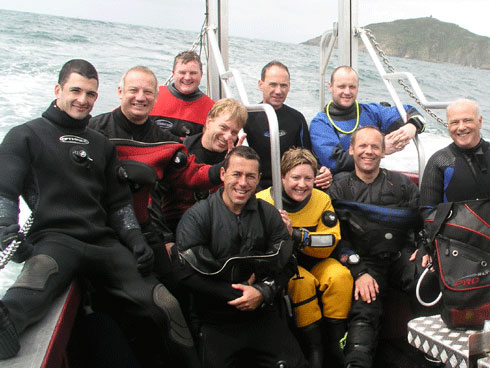 In2scuba Dive Club on our wreck diving weekend in Plymouth July 2009!
