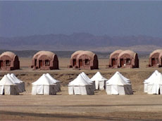 Shagra village tents